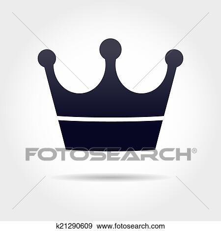 Clipart noir couronne k21290609 recherchez des - Clipart couronne ...