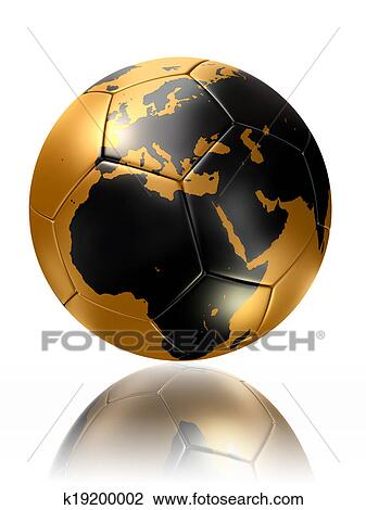Clip art of gold soccer ball globe world map europe africa k19200002 clip art gold soccer ball globe world map europe africa fotosearch search clipart gumiabroncs Images