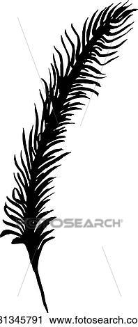 Clipart Main Dessiner Plume Oiseau Style Croquis Pour