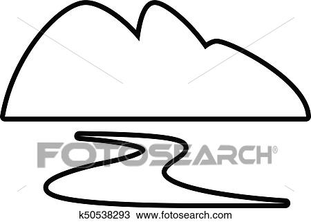 Clipart Of New Gold Mine Icon Outline Style K50538293