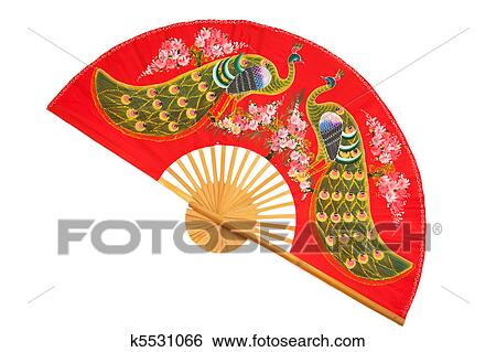 stock images of red chinese fan k5531066 search stock photography