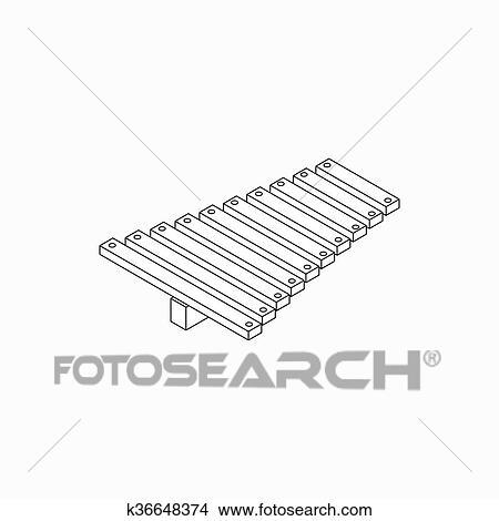 Dessins Xylophone Icone Isometrique 3d Style K36648374