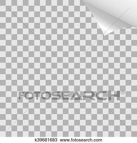 Checkered Sheet Curl Illustration Drawing K39681683 Fotosearch