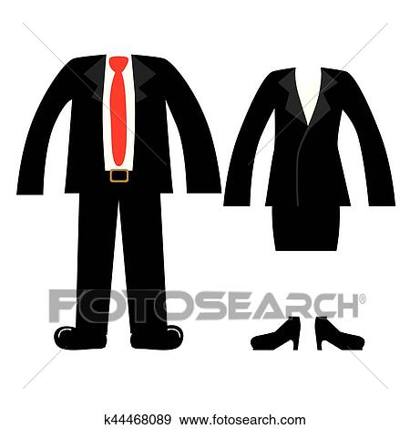 Clip Art Of Clothes For Womens And Mens K44468089 Search Clipart