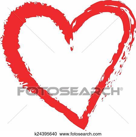 Coeur Dessin banque d'illustrations - dessin animé, coeur, amour, symboles