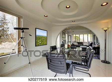 Archivio fotografico - elegante, sala da pranzo, con, passaggio ad ...