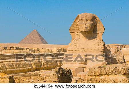 stock photo of sphinx and pyramids at giza cairo k5544194 search