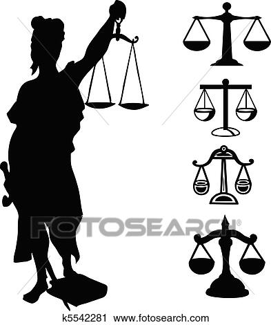 Clipart Of Symbol Of Justice K5542281 Search Clip Art