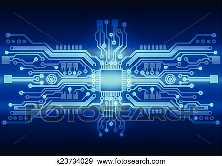 clip art of abstract technology circuit board background texture