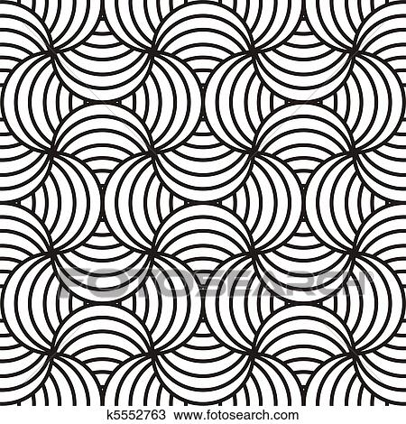 Drawing Of Black White Abstract Design K5552763 Search Clipart