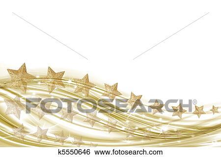 Fondo Bianco E Oro Con Oro Archivio Illustrazioni K5550646