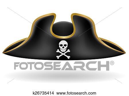 çizimler Korsan Gemisi şapkası Tricorn Resimleme K26735414