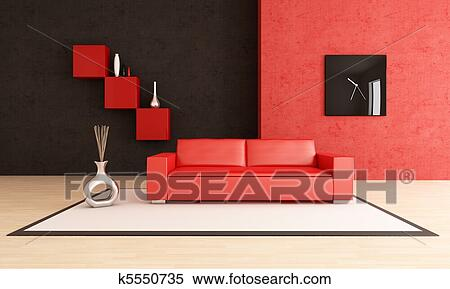 Divano Rosso E Nero : Divano letto matrimoniale rosso con cuscini fantasia
