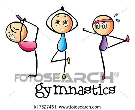 Stickmen Faire Gymnastique Clipart K17527461 Fotosearch