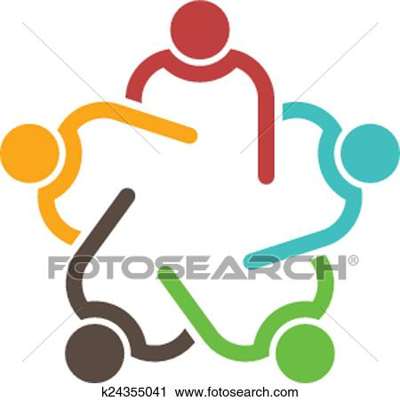 clipart of teamwork conference group of 5 people k24355041 search rh fotosearch com clip art teamwork body of christ church clip art teamwork pictures