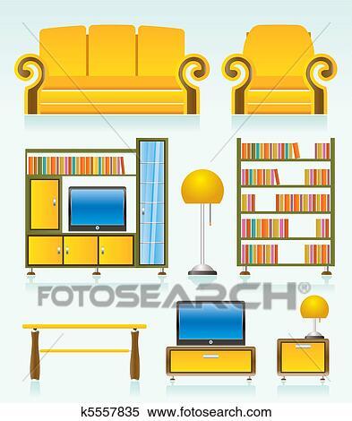 Clipart wohnzimmer gegenst nde k5557835 suche clip for Wohnzimmer clipart