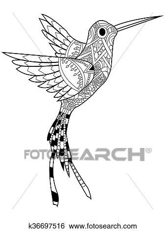 Colección de ilustraciones - colibrí, colorido, raster, para ...