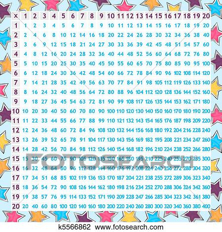 Clipart Of Multiplication Chart K  Search Clip Art