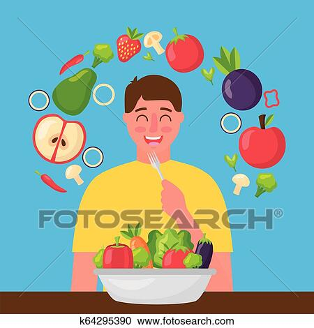 People Healthy Food Clipart K64295390 Fotosearch
