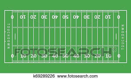 American Football Field Background Rugby Stadium Grass Field Illustration Clip Art K69289226 Fotosearch