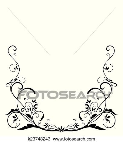 clipart of black vintage border k23748243 search clip art rh fotosearch com vintage border vector eps vintage border vector png
