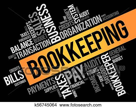 Bookkeeping word cloud collage Clipart
