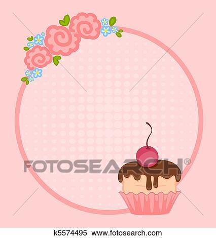 clipart cupcake para desenho k5574495 busca de ilustrações
