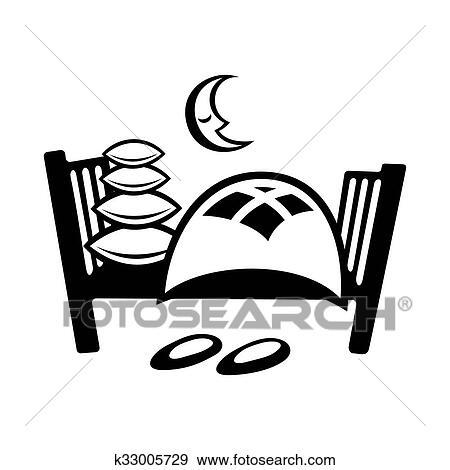 Banque D Illustrations Lit Simple Icône K33005729 Recherche De