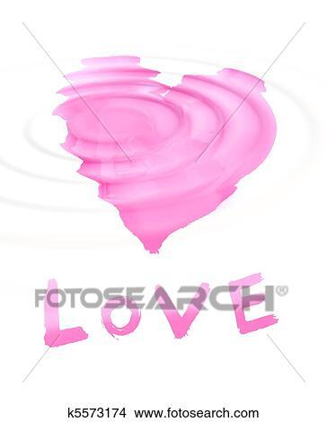 Disegni Parola Love Con Stilizzato Amore Simbolo K5573174