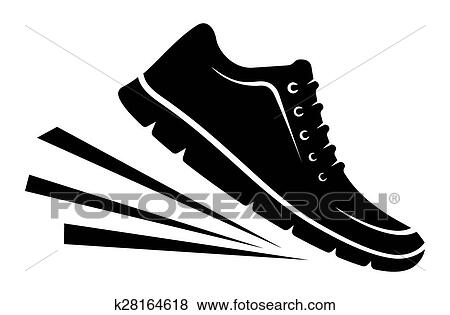 Running shoes icon Clip Art