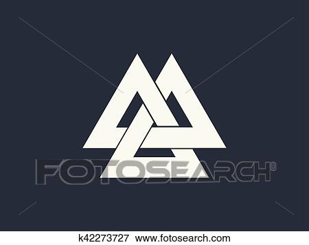 Clip Art Of Valknut Is A Symbol Of The Worlds End Of The Tree