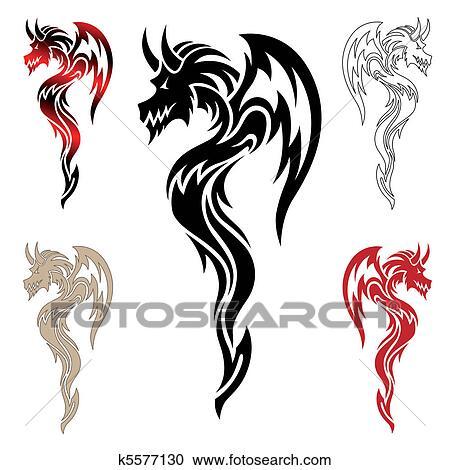 6562c7b9a Chinese dragon tribal tattoo designs. Japanese dragon tattoos the chinese  dragon used in tattoo art. In recent years tribal tattoos have enjoyed a  revivalwe ...