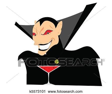 Vettore cartone animato vampiro disegno clipart k