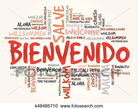 Bienvenido Welcome In Spanish Clipart K48485710 Fotosearch