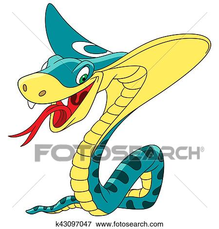 Dessin Cobra clipart - dessin animé, cobra roi, serpent k43097047 - recherchez