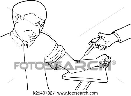 Clip Art Of Happy Patient Getting Vaccinated K25407827