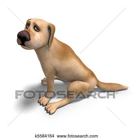 Molto divertente cartone animato cane è uno poco pezzo nuts