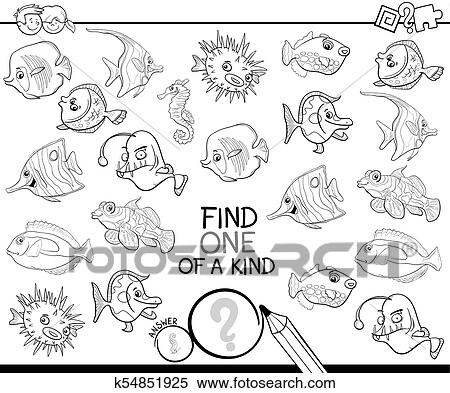 art spiel mit fische ausmalbilder clipart k54851925 fotosearch. Black Bedroom Furniture Sets. Home Design Ideas