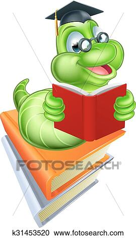 Bücherwurm clipart  Clipart - bücherwurm, bildung, begriff k31453520 - Suche Clip Art ...