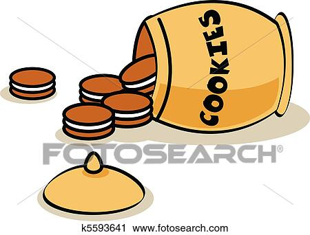 clipart of cookie jar laying on it s side k5593641 search clip art rh fotosearch com  clipart cookie jar