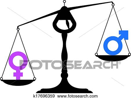 Clip Art Of Gender Equality Symbols K17696359 Search Clipart