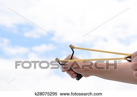 Stock Bild - hand, ziehen, bänder, von, seine, stein, schuetze ...
