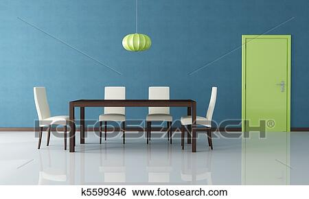 Stock Illustration Of Modern Dining Room K5599346