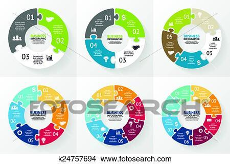 clipart - puzzle infographic  diagram, graph, presentation   fotosearch