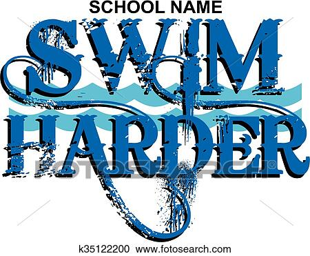 clipart of swim harder k35122200 search clip art illustration rh fotosearch com