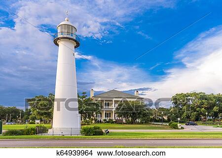 Biloxi Mississippi Usa At Biloxi Lighthouse Picture K64939964