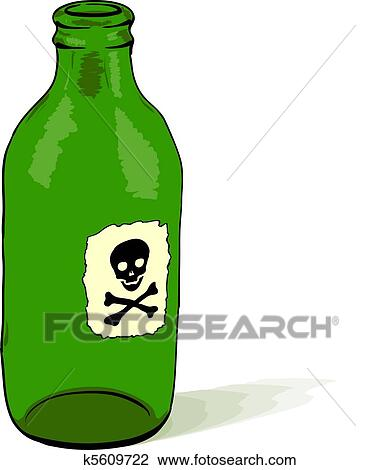 Clipart Of Bottle With Poison Symbol Vector K5609722 Search Clip