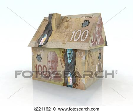 Stock Ilration Canadian Dollar House Fotosearch Search Clipart Posters Drawings