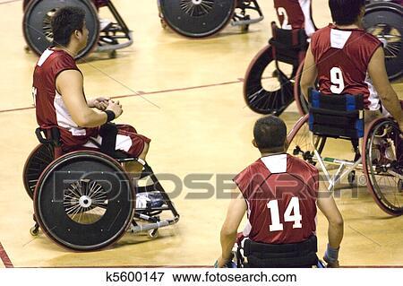 Image chaise roue basket ball pour handicapé k
