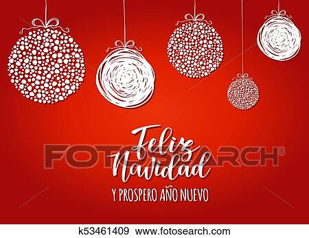 feliz navidad y prospero ano nuevo spanish merry christmas and happy new year
